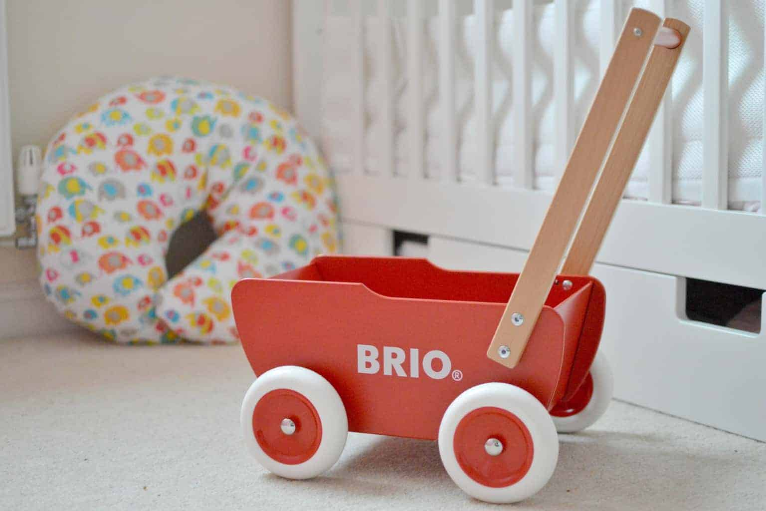 brio wooden doll pram boo roo and tigger too. Black Bedroom Furniture Sets. Home Design Ideas