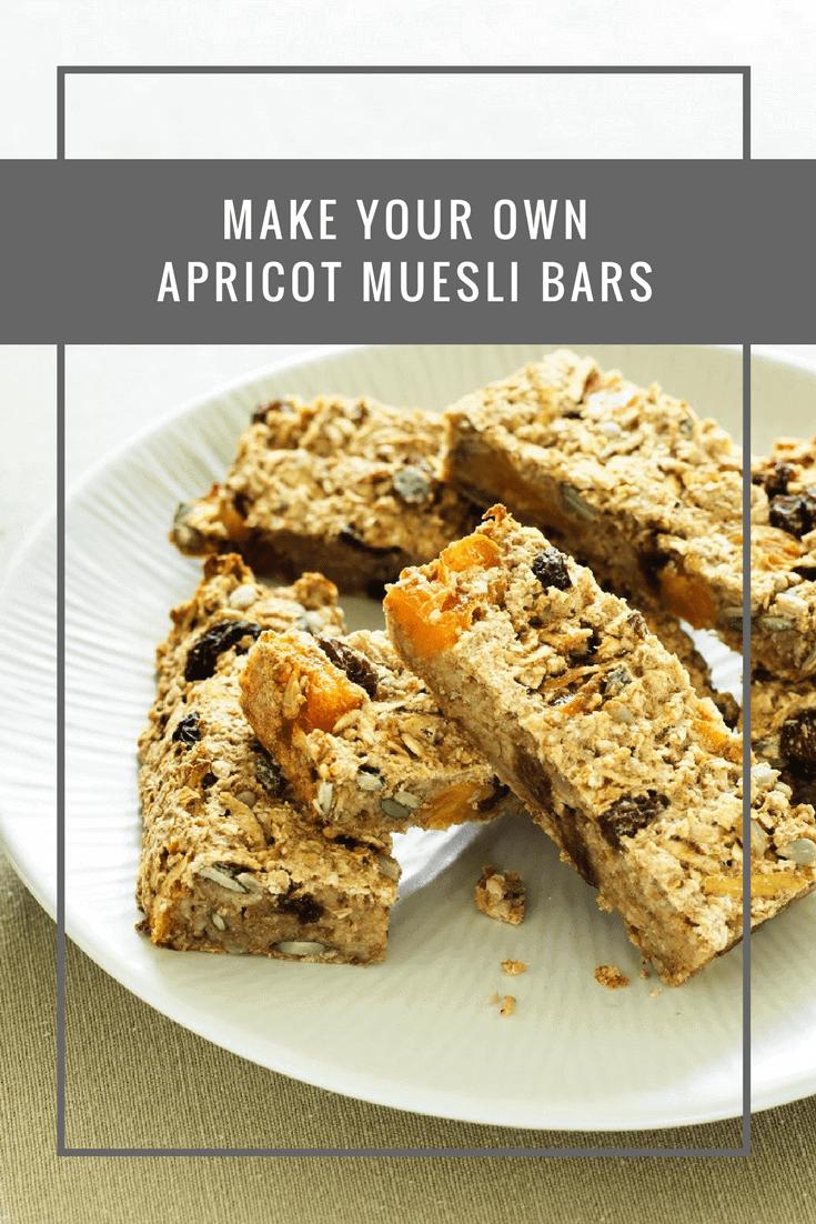 Make your own apricot muesli bars