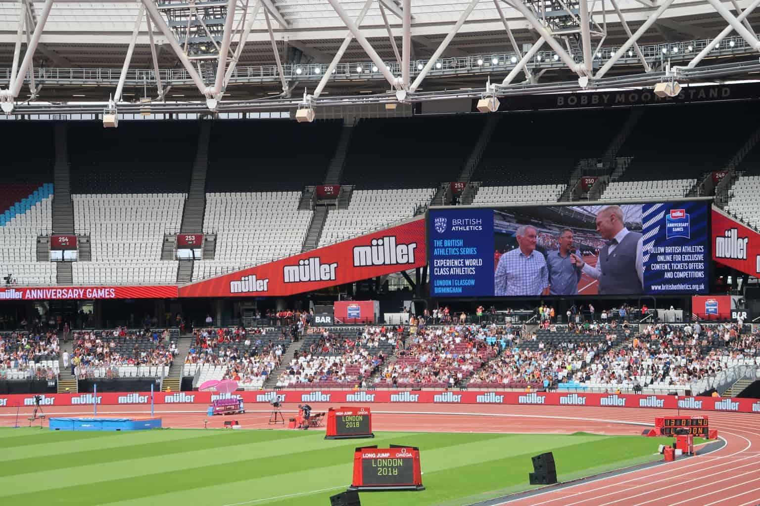 The Muller Anniversary Games inspiring the next generation of sport superstars