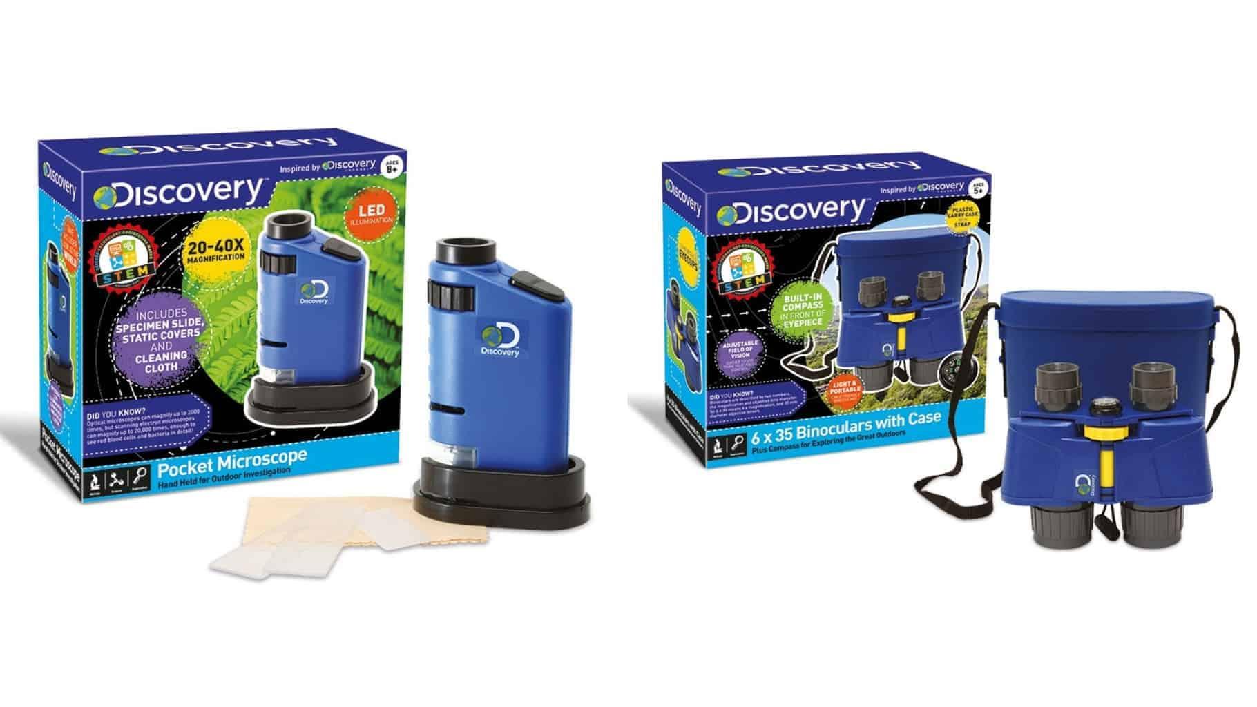 Discovery Pocket Microscope and Binoculars