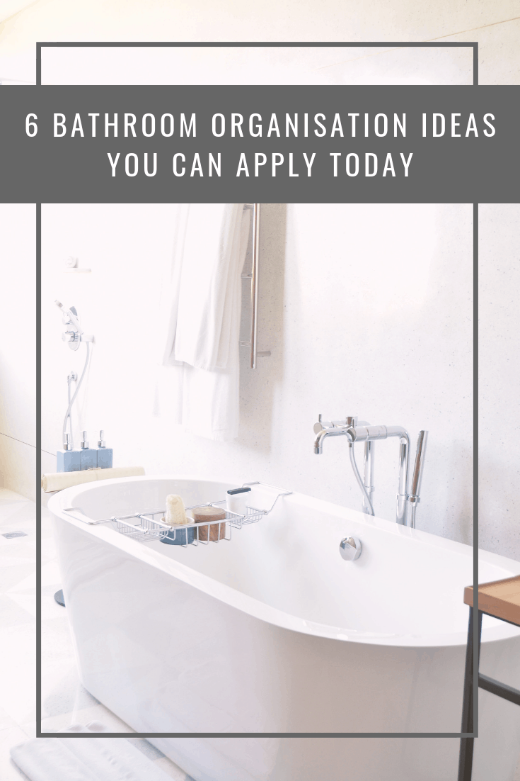 Since most of us can't spring for a full bathroom renovation, or for expanding our bathrooms, we have to settle for some creative bathroom organisation ways to keep our products and linens out of sight, but within easy access.