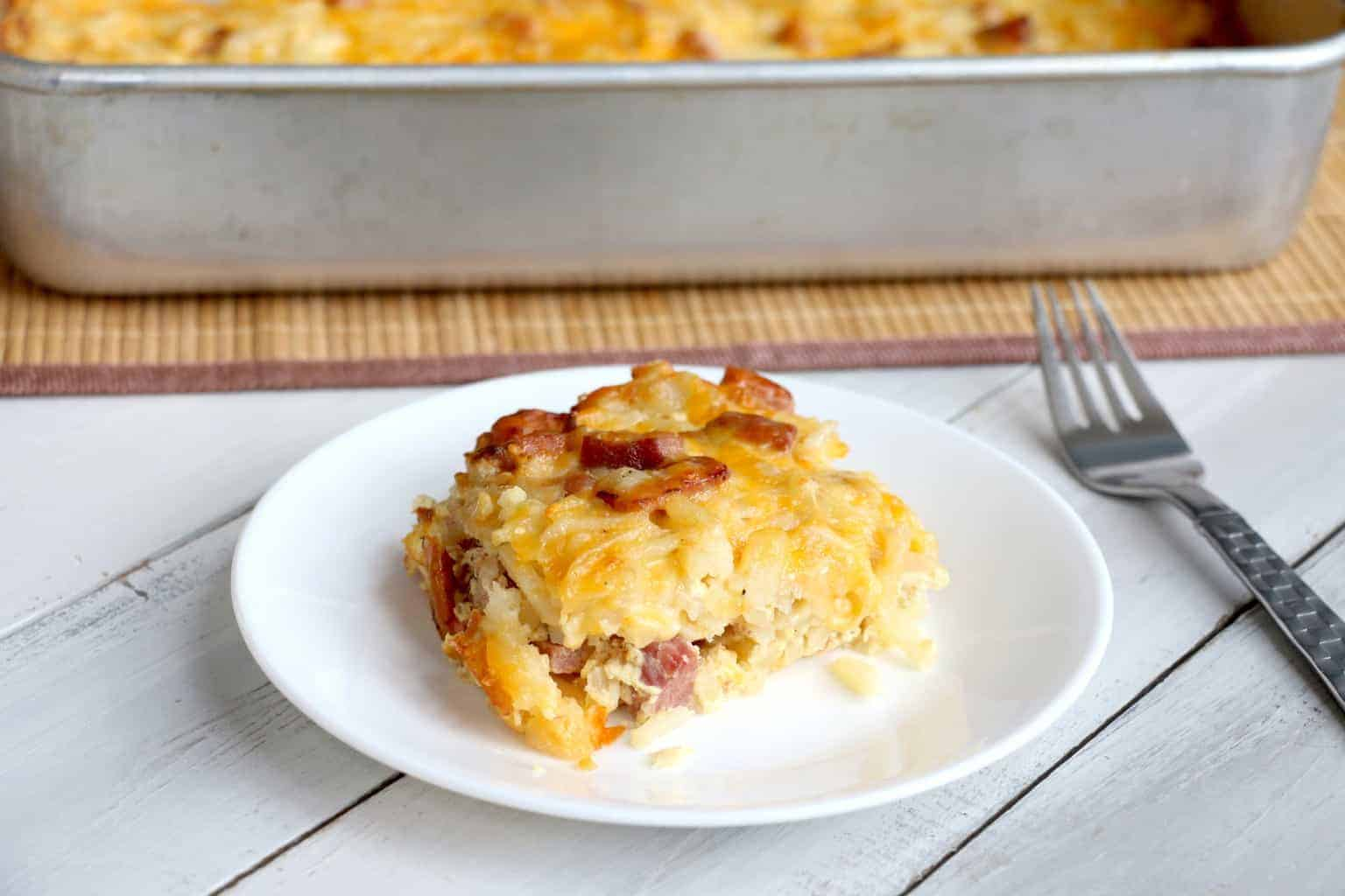 Ham, Egg, and Cheese Brunch Bake 4