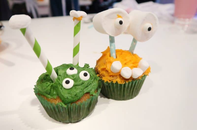 Annabel Karmel's halloween alien apple and pumpkin muffins