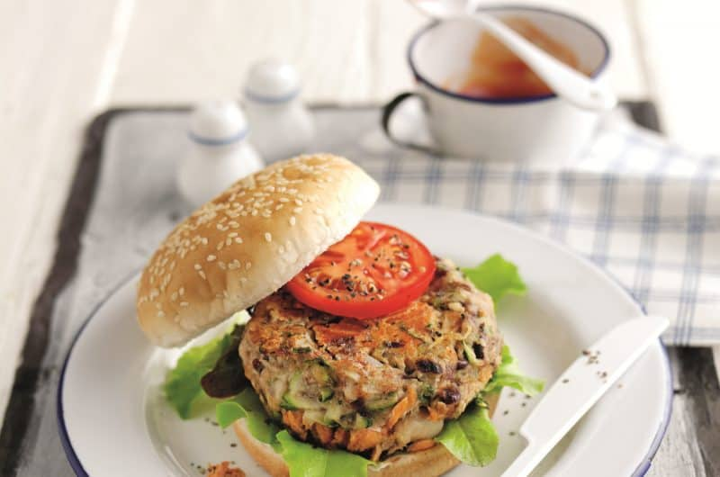 Cajun-style Alaska Salmon Burger recipe