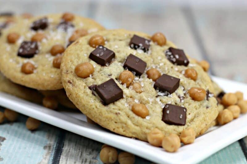 Salted Caramel Chocolate Chunk Cookies recipe