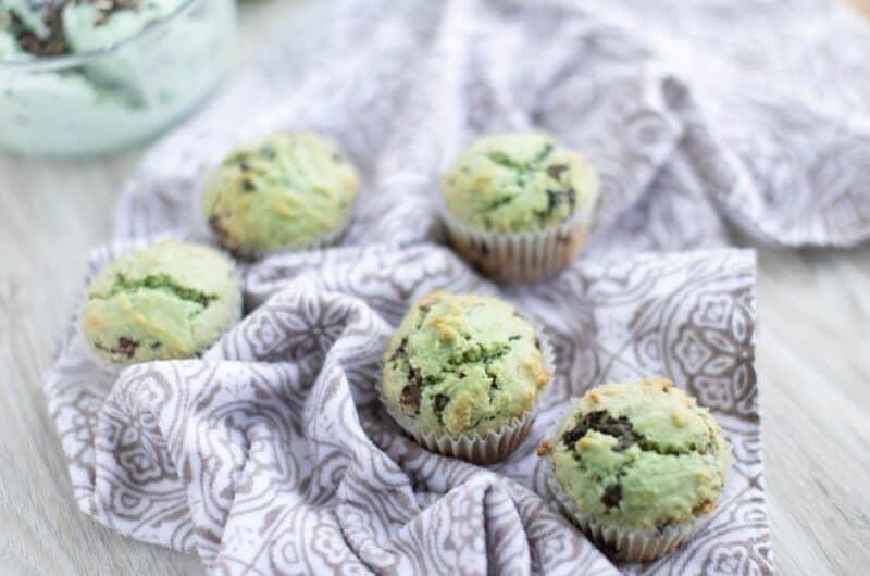 Mint Chocolate Chip Ice Cream Muffins Recipe
