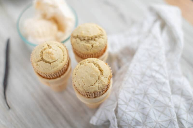 Vanilla Bean Ice Cream Muffins recipe