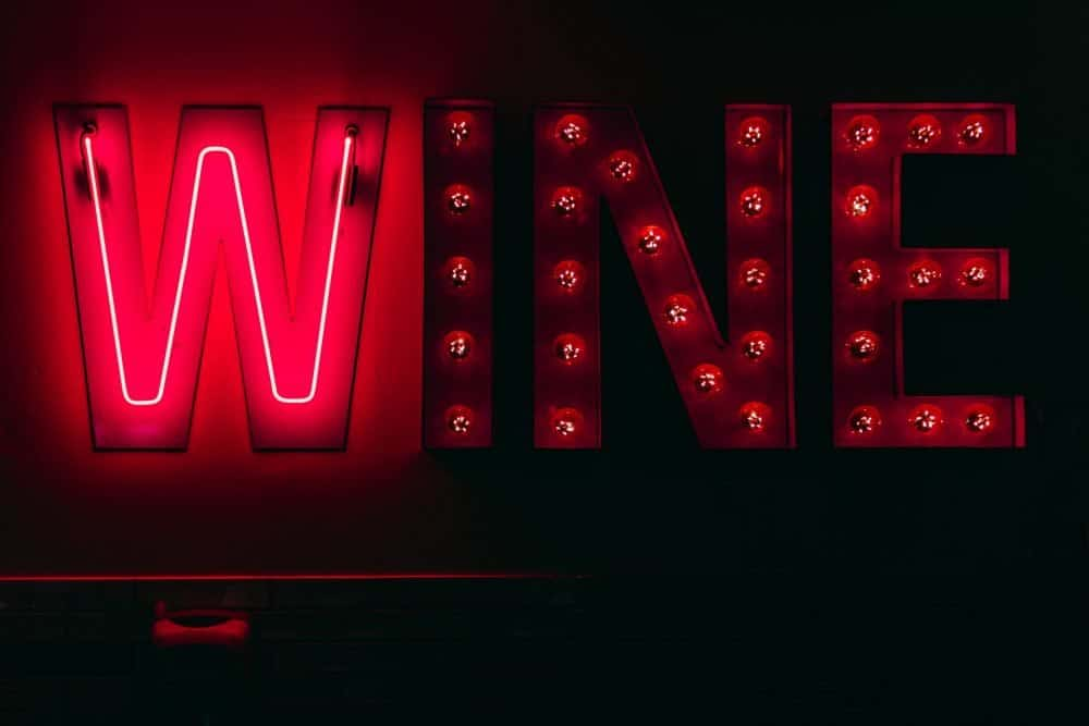 red wine marquee sign