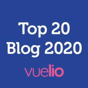 Vuelio Top 20 Blog 2020 Badge