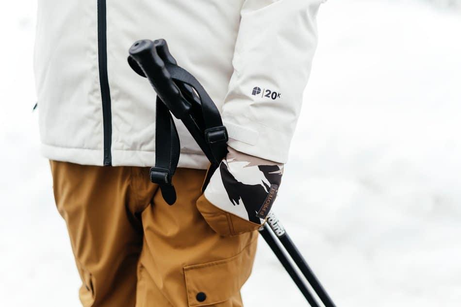 preparing for ski season - ski poles