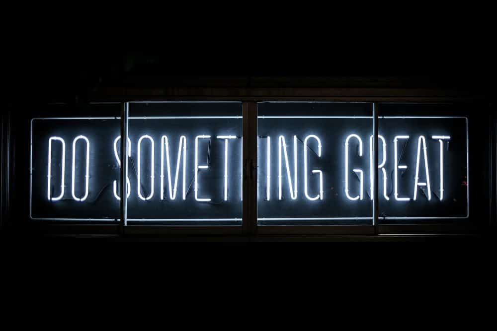 Do something great - financial freedom