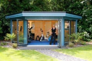 Five reasons for using a garden building as a garden gym