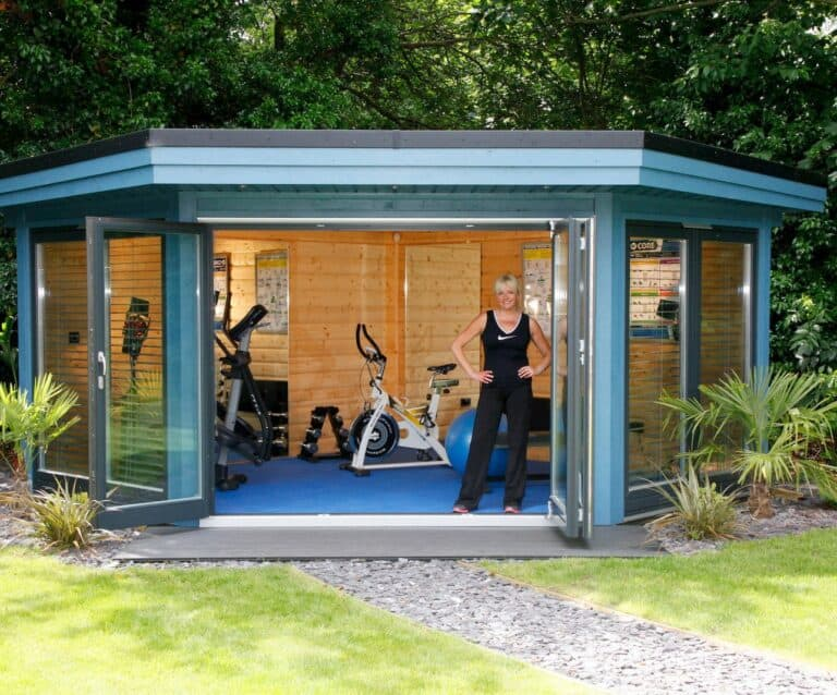 Five reasons for using a garden building as a garden gym