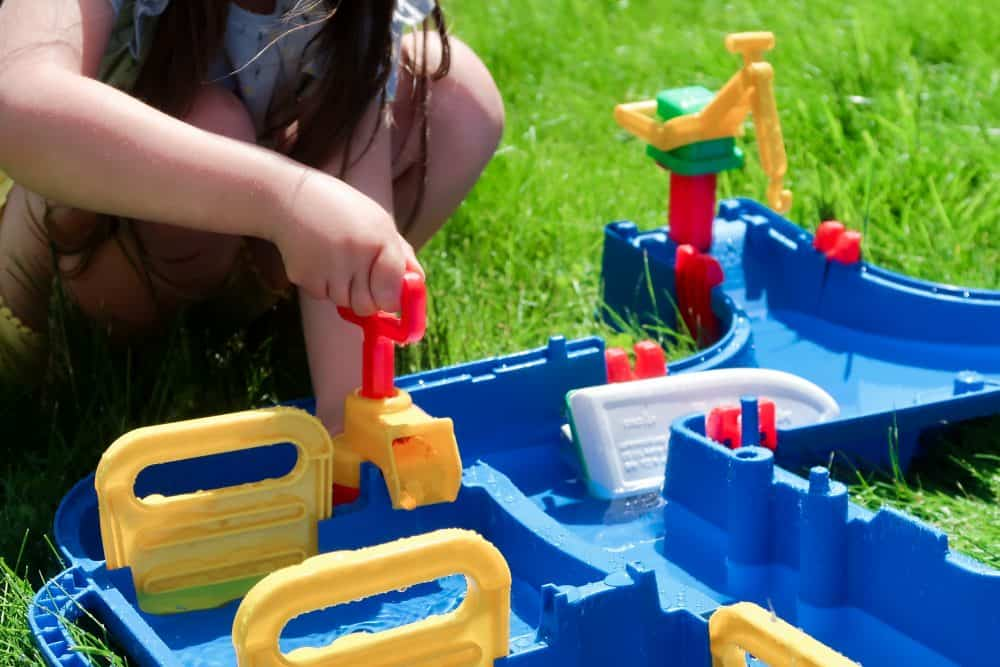 water play in the garden this summer