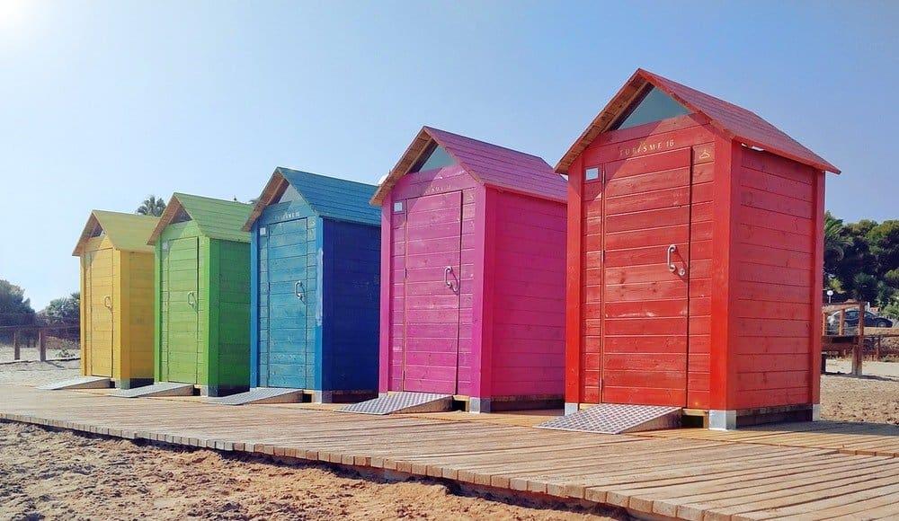 UK Staycation - beach huts