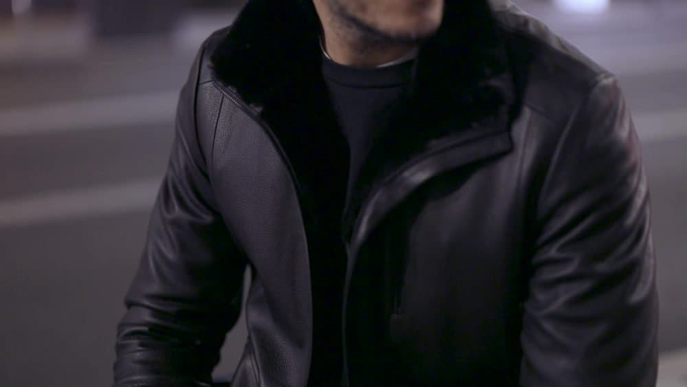 buying a luxury leather jacket
