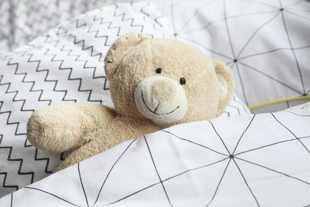 Decorating your childs bedroom - soft furnishings with teddy