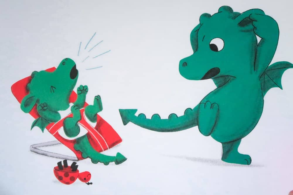 When a Dragon Meets a Baby - Illustrations